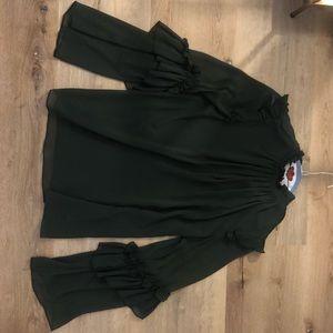 Tops - Green Zara Blouse Size Sm
